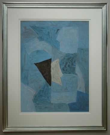 Lithograph Poliakoff - Composition bleue