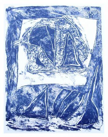 Lithograph Humair - Composition bleue 1