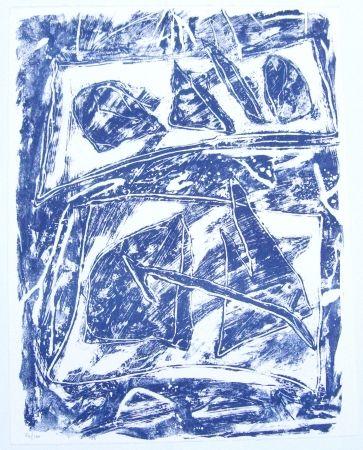 Lithograph Humair - Composition bleue 2