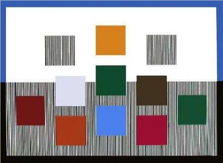Screenprint Soto - Composition cinétique