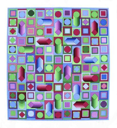 Screenprint Vasarely - Composition cinétique