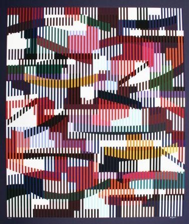 Screenprint Agam - Composition cinétique 2
