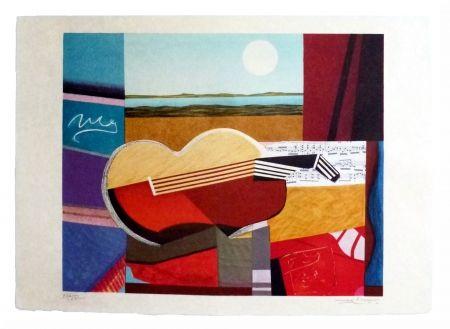Lithograph Papart - Composition cubiste
