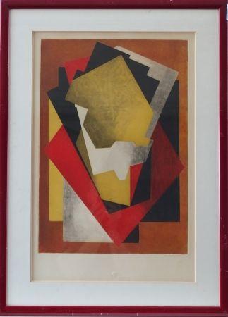 Etching And Aquatint Villon - Composition cubiste