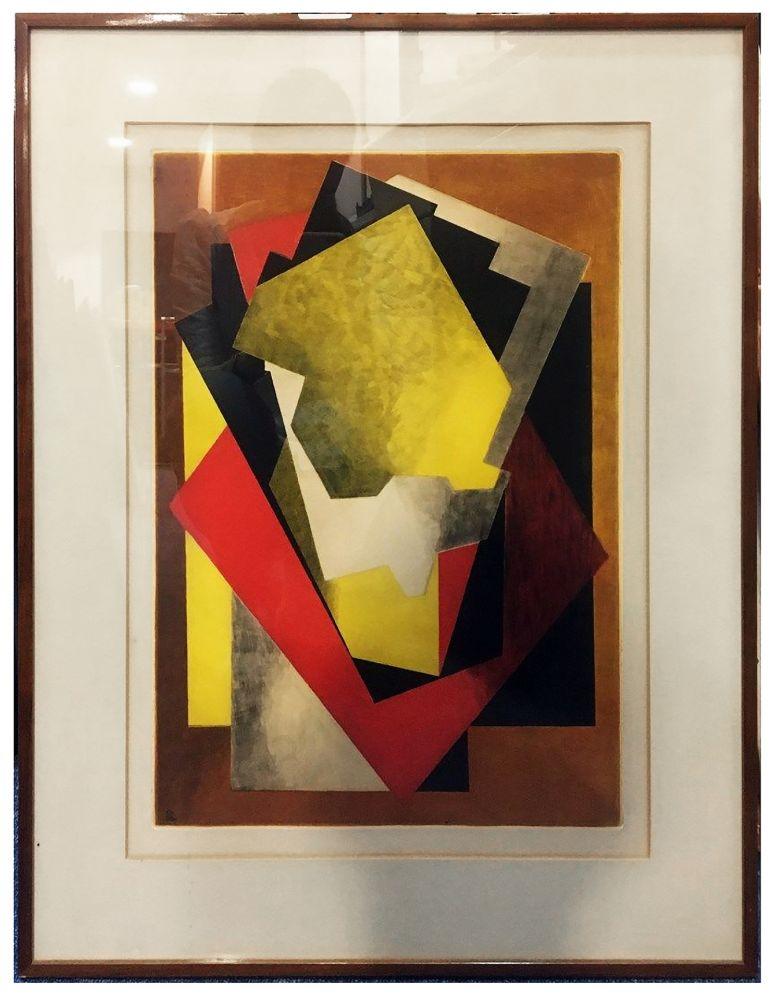 Etching And Aquatint Villon - Composition Cubiste (1927)