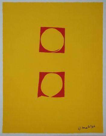 Screenprint Matisse - Composition Deux cercles