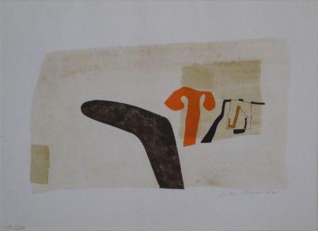 """Lithograph Bissier - Composition (""""die Dinge des Lebens verlieren ihre Namen…"""")"""