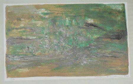 Lithograph Zao - Composition En Vert
