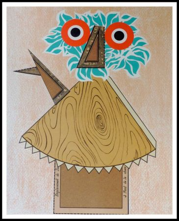 Lithograph Baj - Composition Figurative