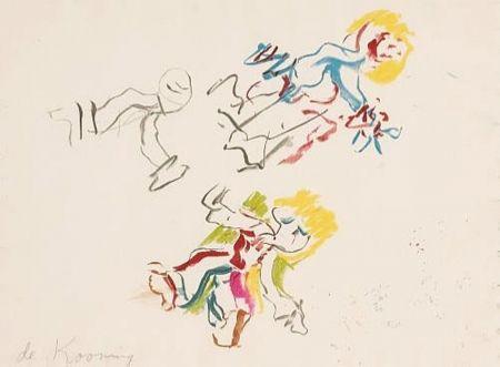 Lithograph De Kooning - Composition for Lisa
