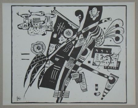 Woodcut Kandinsky - Composition from 1935