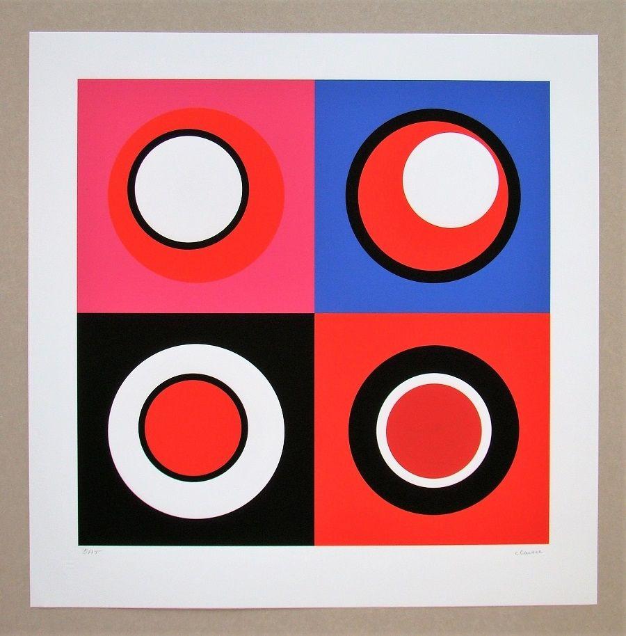 Screenprint Claisse - Composition géométrique