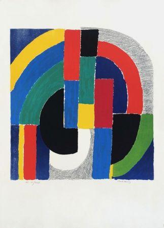 Lithograph Delaunay - Composition géométrique