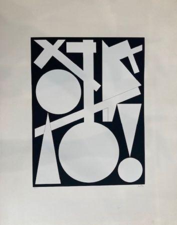 Screenprint Herbin - Composition géométrique