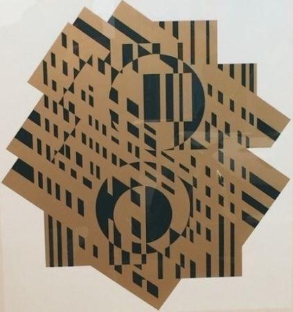 Lithograph Vasarely - Composition géométrique