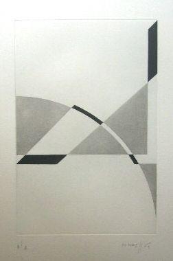 Etching Honegger - Composition géométrique 1