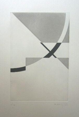 Etching Honegger - Composition géométrique 2
