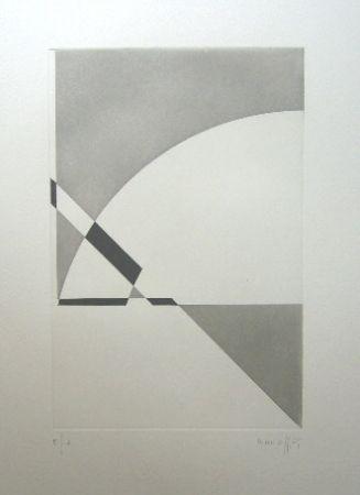 Etching Honegger - Composition géométrique 3