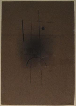 Monotype Tutundjian - Composition géometrique abtraite / Geometrisch abstrakte Komposition