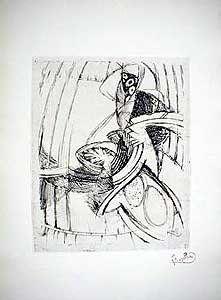 Engraving Kupka - Composition Geometrique