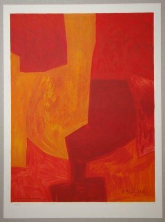Lithograph Poliakoff - Composition gouache 1969