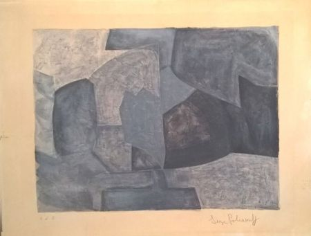 Lithograph Poliakoff - Composition grise n°59