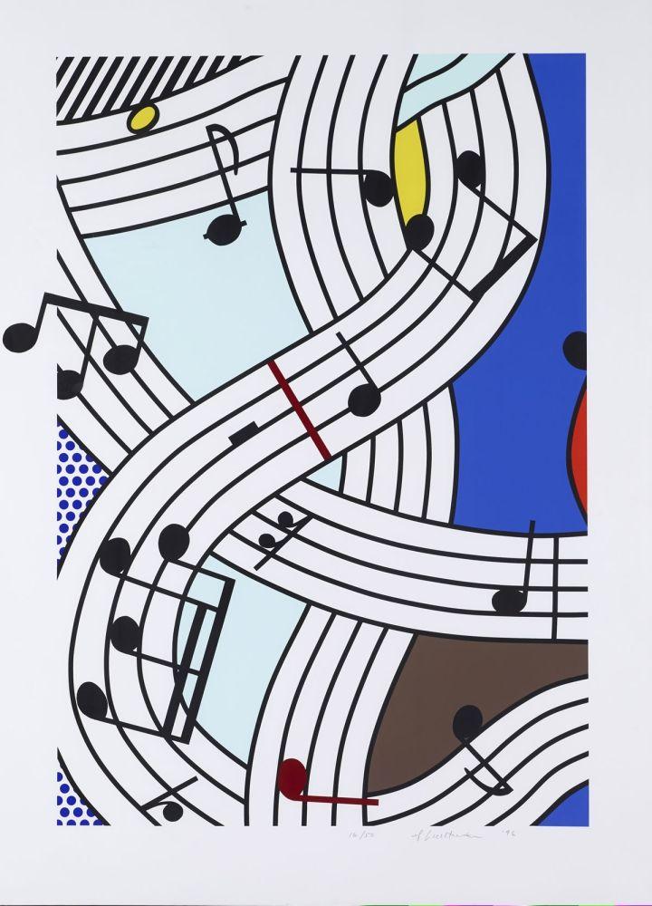 Screenprint Lichtenstein - Composition I