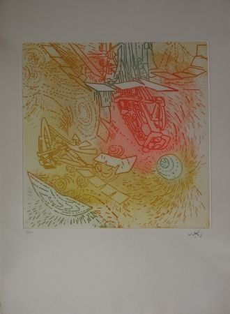 Etching And Aquatint Matta - Composition / Iolas