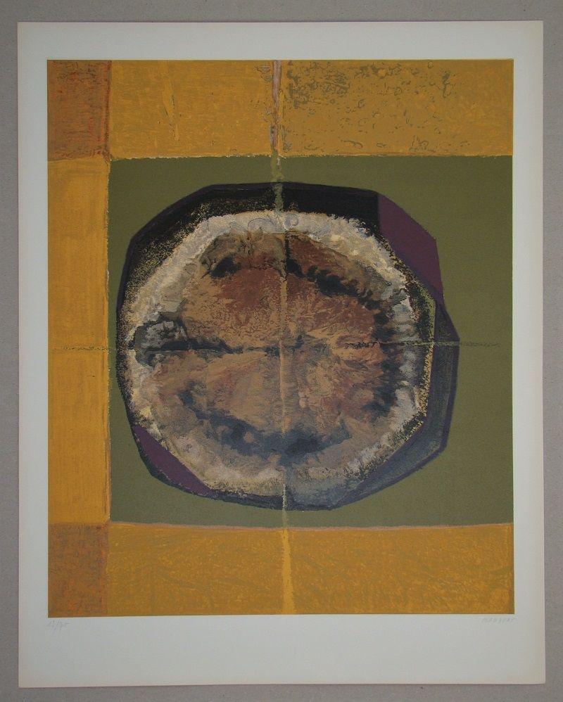 Screenprint Piaubert - Composition IV. - 1964