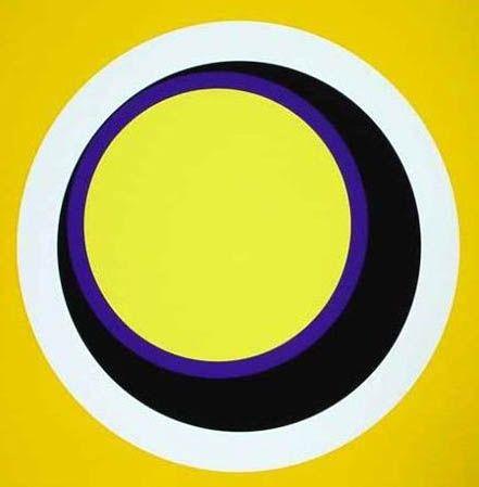 Screenprint Claisse - Composition jaune