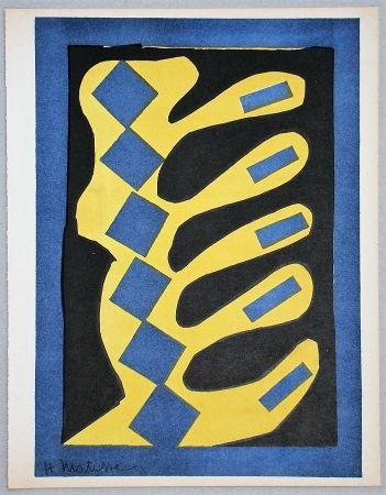 Lithograph Matisse - Composition Jaune, Bleu Et Noire, 1947