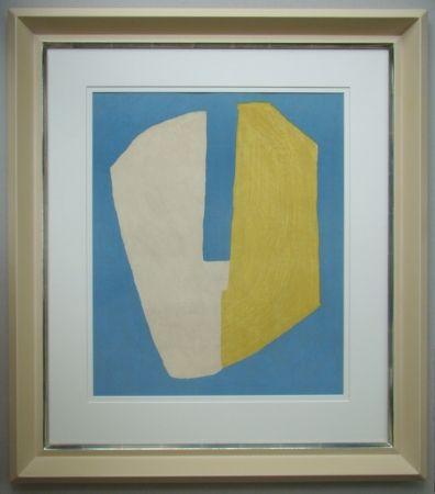 Lithograph Poliakoff - Composition jaune et bleue