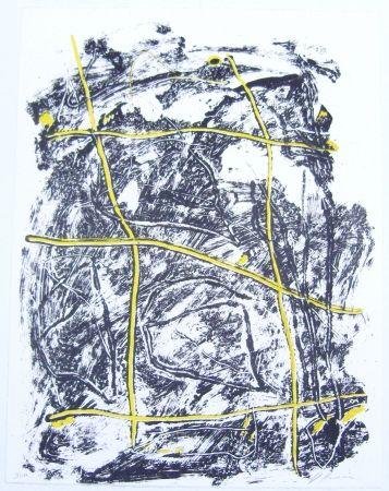Lithograph Humair - Composition jaune et noire 2