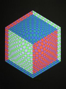 Screenprint Vasarely - Composition M