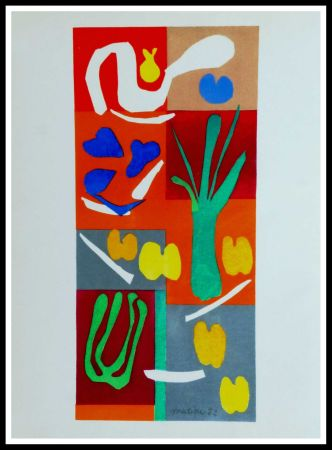 Lithograph Matisse - COMPOSITION MARINE