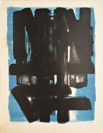 Lithograph Soulages - Composition n°5