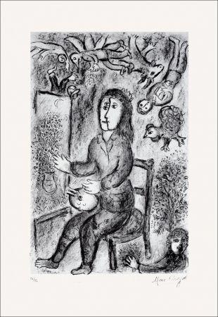 Lithograph Chagall - Composition Noire