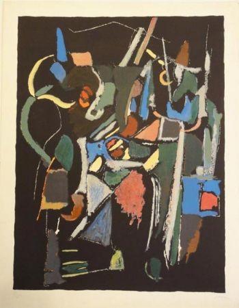 Lithograph Lanskoy - Composition noire 1