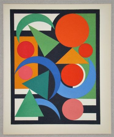 Screenprint Herbin - Composition Oiseau