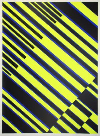 Screenprint Fruhtrunk - Composition op art