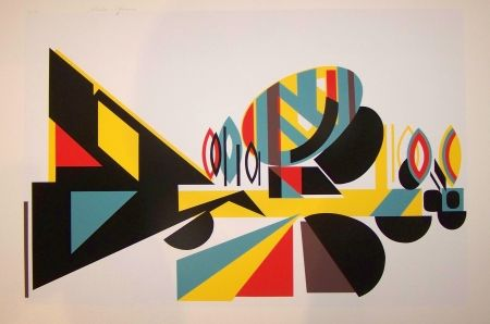 Screenprint Afonso - Composition op art