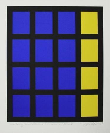 Screenprint Tyson - Composition op art