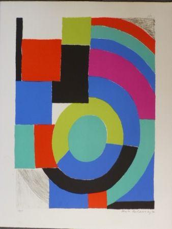 Lithograph Delaunay - Composition orphique