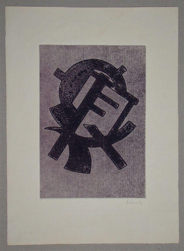 Aquatint Kerels - Composition pour Art Abstrait