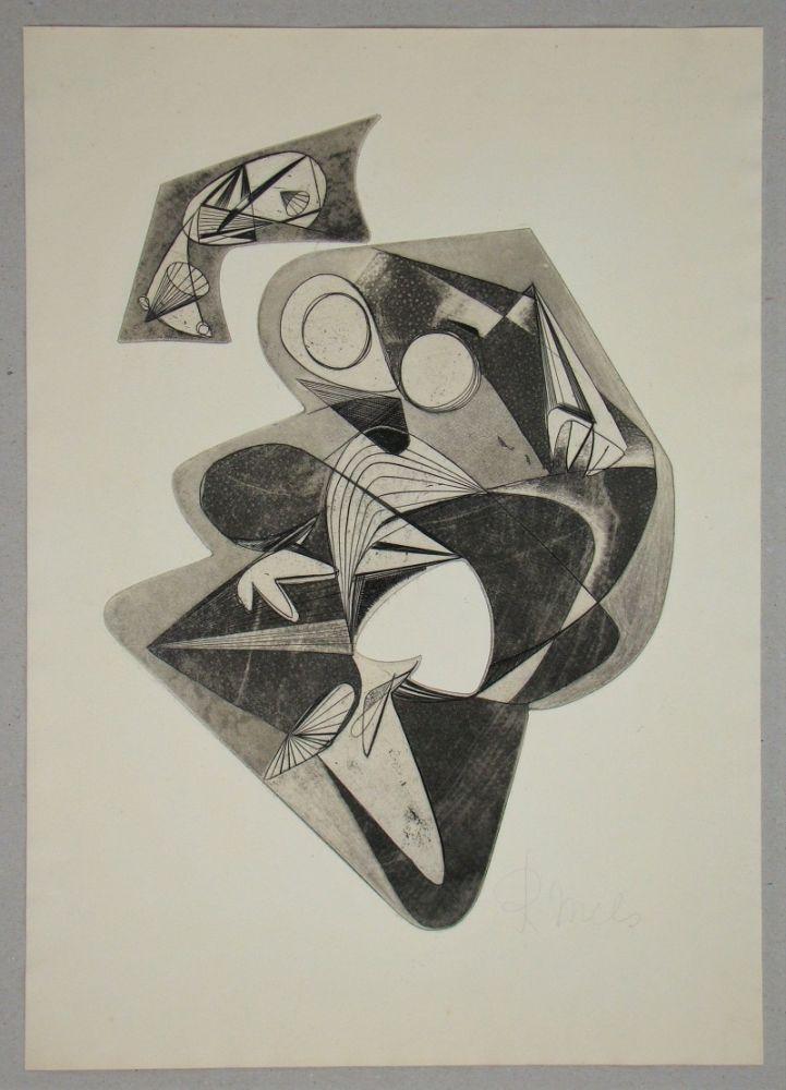Engraving Mels - Composition pour Art Abstrait