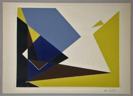 Screenprint Gilles  - Composition pour Art Abstrait