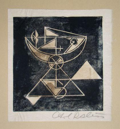 Woodcut Rabus - Composition pour Art Abstrait
