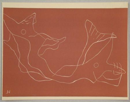 Linocut Laurens - Composition pour XXe Siècle