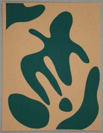 Woodcut Arp - Composition pour XXe Siècle