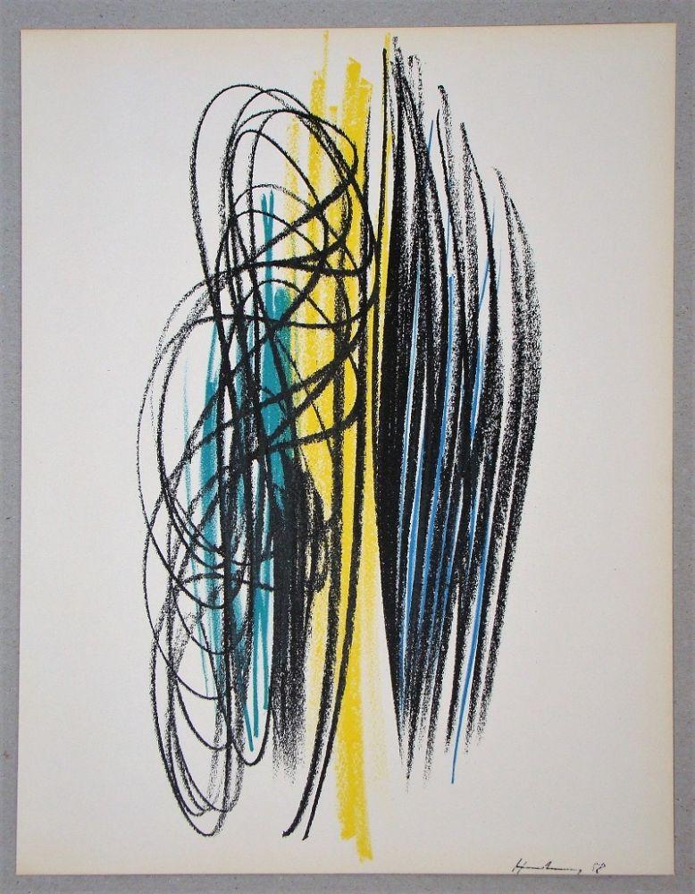 Lithograph Hartung - Composition pour XXe Siècle
